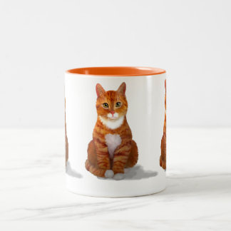Yellow Tabby Cat Mug