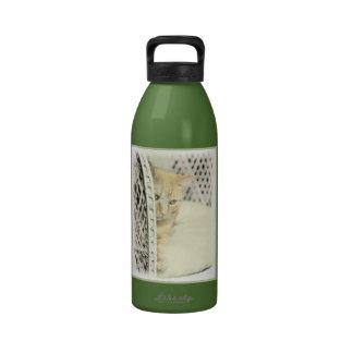 Yellow Tabby Cat Drinking Bottle