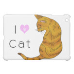 Yellow tabby cat (yellow eyes) cover for the iPad mini