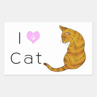 Yellow tabby cat (yellow eyes) rectangular sticker