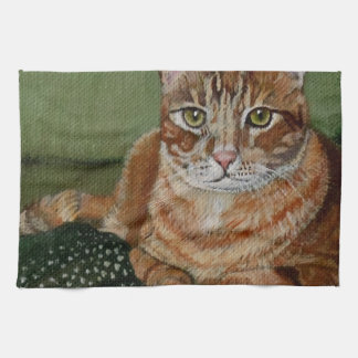 Yellow Tabby Kitchen Towels