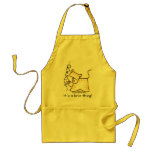 Yellow Tabby Rescue...it's a love thing! Adult Apron