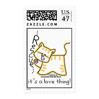 Yellow Tabby Rescue...it's a love thing! Postage