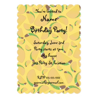 Yellow tacos 5x7 paper invitation card