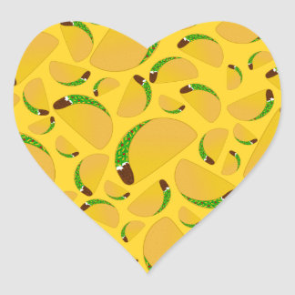 Yellow tacos heart sticker