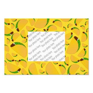 Yellow tacos photo print