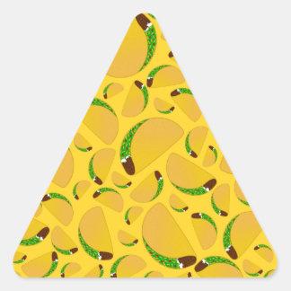 Yellow tacos triangle sticker