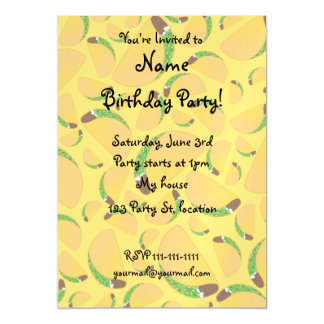 Yellow tacos magnetic invitations
