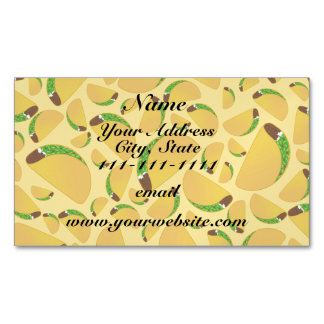 Yellow tacos magnetic business cards (Pack of 25)
