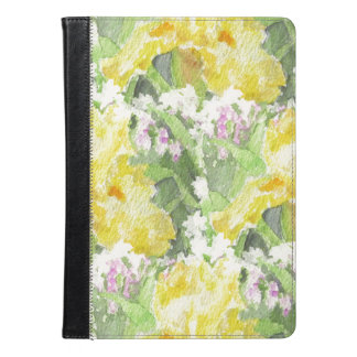 Yellow Tall Bearded Iris Watercolor iPad Air Case