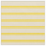 [ Thumbnail: Yellow & Tan Colored Lines Pattern Fabric ]