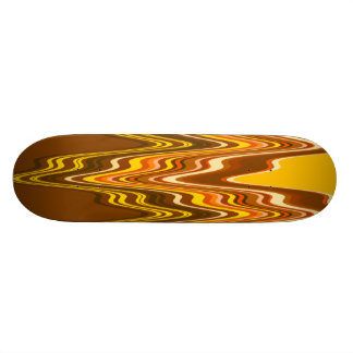 Yellow/Tan Merge Skateboard Deck