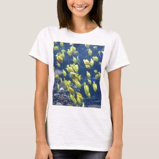 Yellow tang fish tank color photo tee shirt
