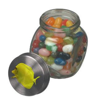 Yellow Tang Glass Candy Jar