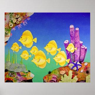 Yellow Tang School Poster