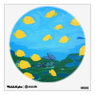 Yellow Tang Underwater Painting Wall Decal