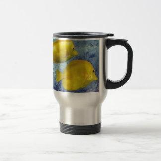 Yellow Tangs Travel Mug