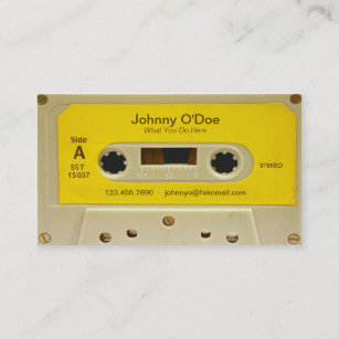 Yellow business cards templates zazzle yellow tape business card colourmoves