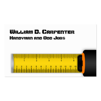 Yellow Tape Measure Construction and Technical Business Card