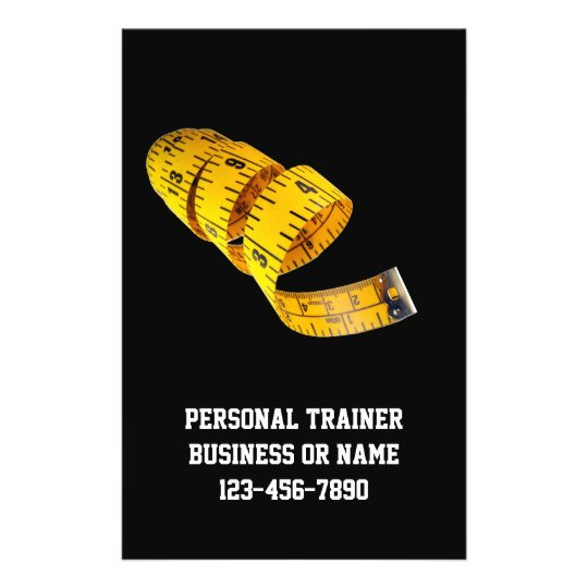 yellow tape measure personal trainer weight loss flyer zazzle com