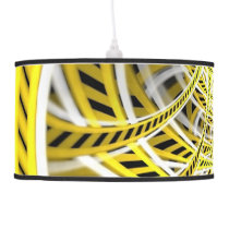 Yellow Tape Roller Coaster Ride on Fractal Rails Ceiling Lamp