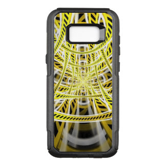 Yellow Tape Roller Coaster Ride on Fractal Rails OtterBox Commuter Samsung Galaxy S8+ Case