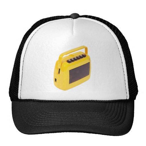 Yellow tape trucker hat