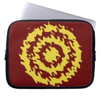 Yellow target splashed retro style laptop sleeve