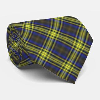 Yellow Tartan Plaid Tie