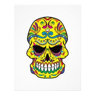 Yellow Tattoo Mexican Sugar Skull Letterhead