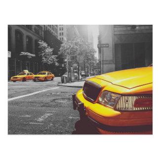 Yellow taxi 01 postcard