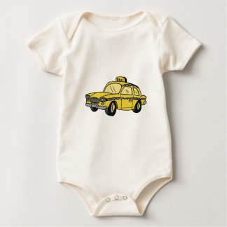 Yellow Taxi Cab Baby Bodysuit