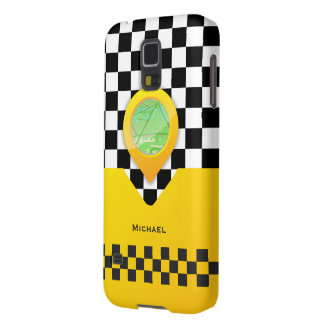 Yellow Taxi Cab Driver Service Bussines Case For Galaxy S5