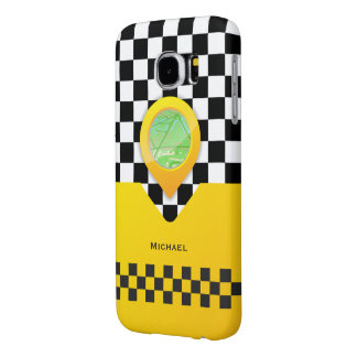 Yellow Taxi Cab Driver Service Bussines Samsung Galaxy S6 Case