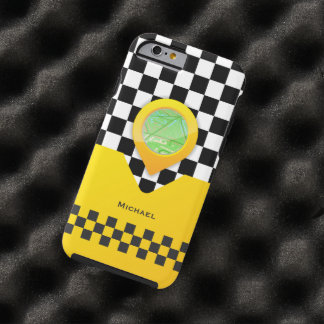 Yellow Taxi Cab Driver Service Bussines Tough iPhone 6 Case