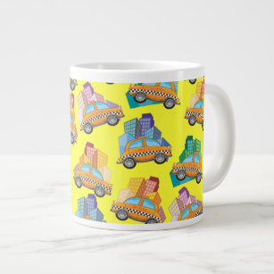 huge selection of f0a46 2a1c2 Yellow Cartoon Taxi Cab Kitchen & Dining Supplies | Zazzle