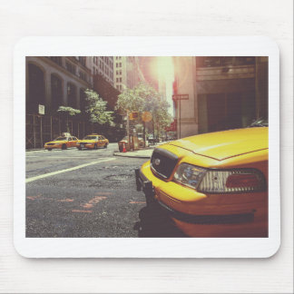 Yellow Taxi Cab of New York City Mouse Pad