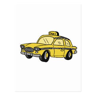 Yellow Taxi Cab Postcard