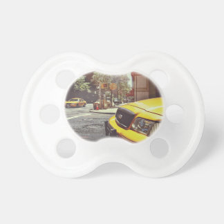 yellow taxi cabs service baby pacifier