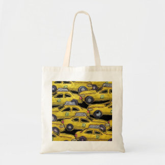 Yellow Taxi Cabs Tote Bag