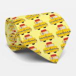 Yellow Taxi Design Neck Tie