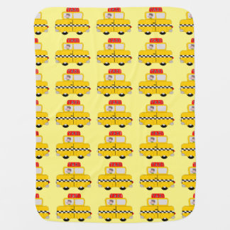 Yellow Taxi Design Swaddle Blanket