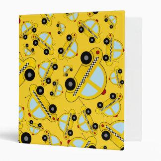 Yellow taxi pattern 3 ring binder