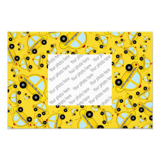 Yellow taxi pattern photo print