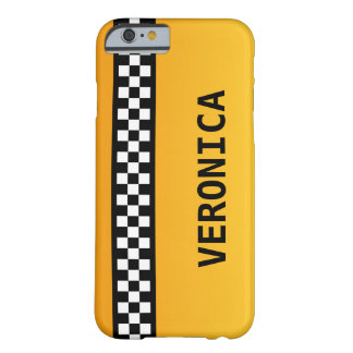 """Yellow Taxi Stripe """"Add Your Name"""" Barely There iPhone 6 Case"""