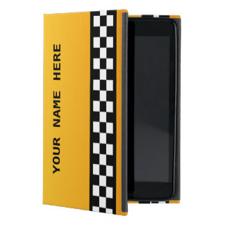 "Yellow Taxi Stripe ""Add Your Name"" Case For iPad Mini"