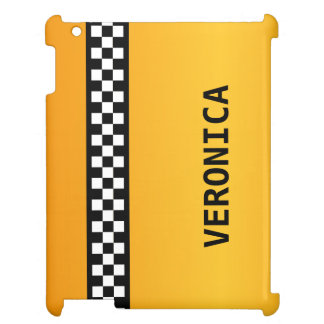 "Yellow Taxi Stripe ""Add Your Name"" Cover For The iPad"