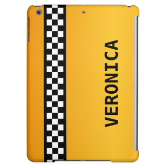 "Yellow Taxi Stripe ""Add Your Name"" iPad Air Cases"