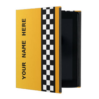 "Yellow Taxi Stripe ""Add Your Name"" iPad Case"