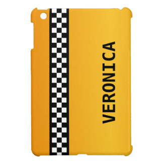 "Yellow Taxi Stripe ""Add Your Name"" iPad Mini Cover"